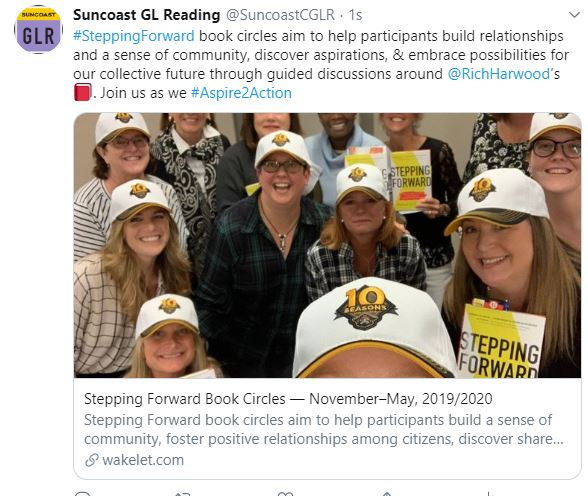 Stepping Forward book circle highlights