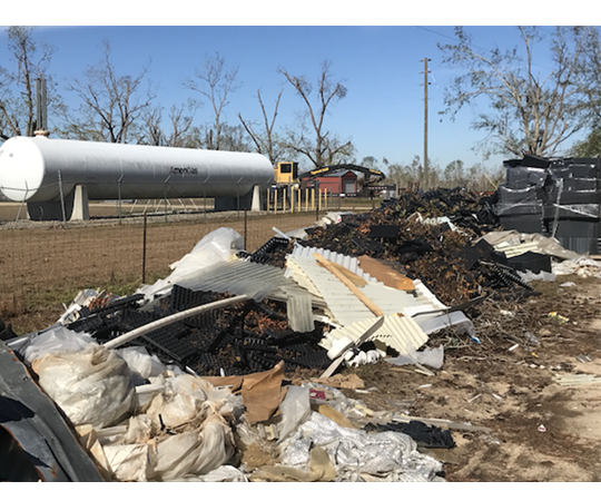 Debris from Hurricane Michael