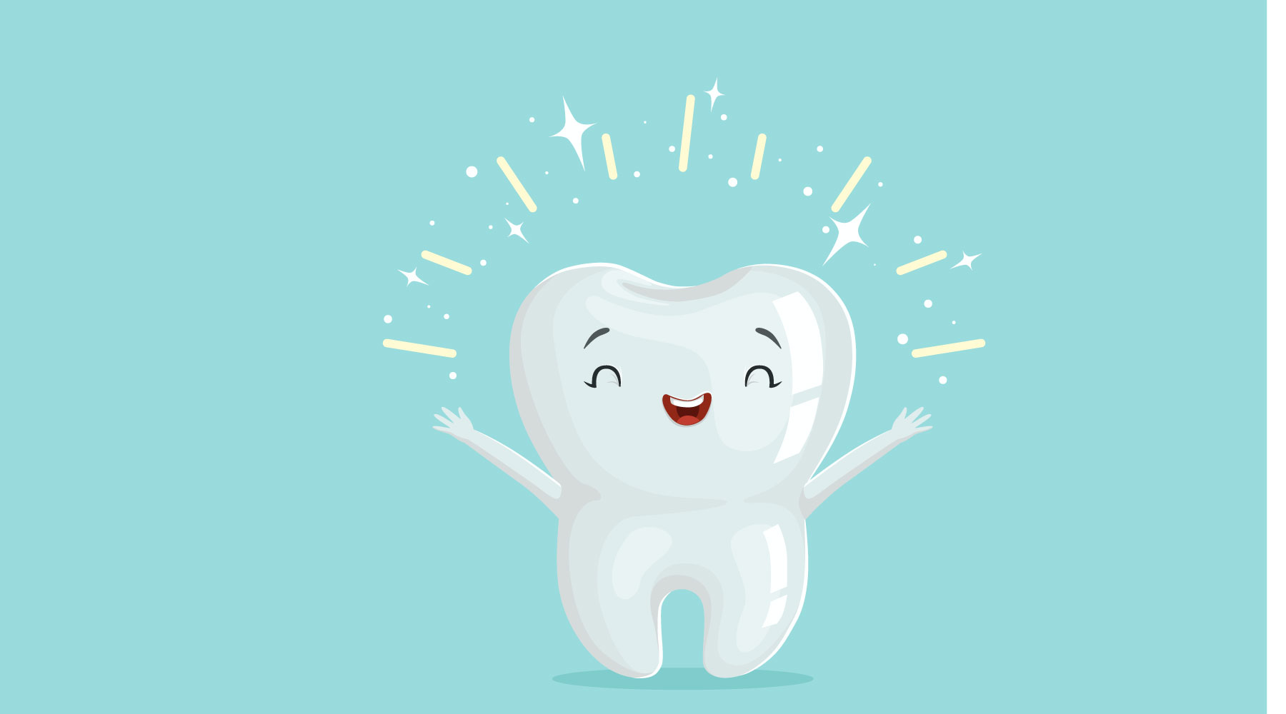 "illustration of a ""happy tooth"""