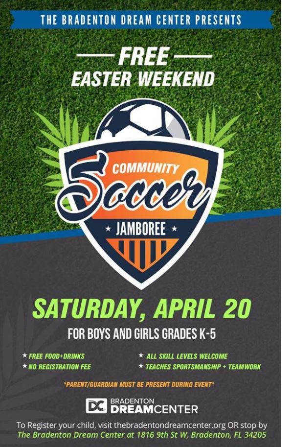 The Bradenton Dream Center's Free Community Soccer Jamboree